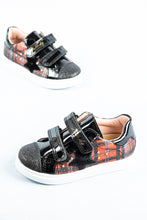 Load image into Gallery viewer, 284119 Pablosky Trainers Black with Orange Check for sale online ireland