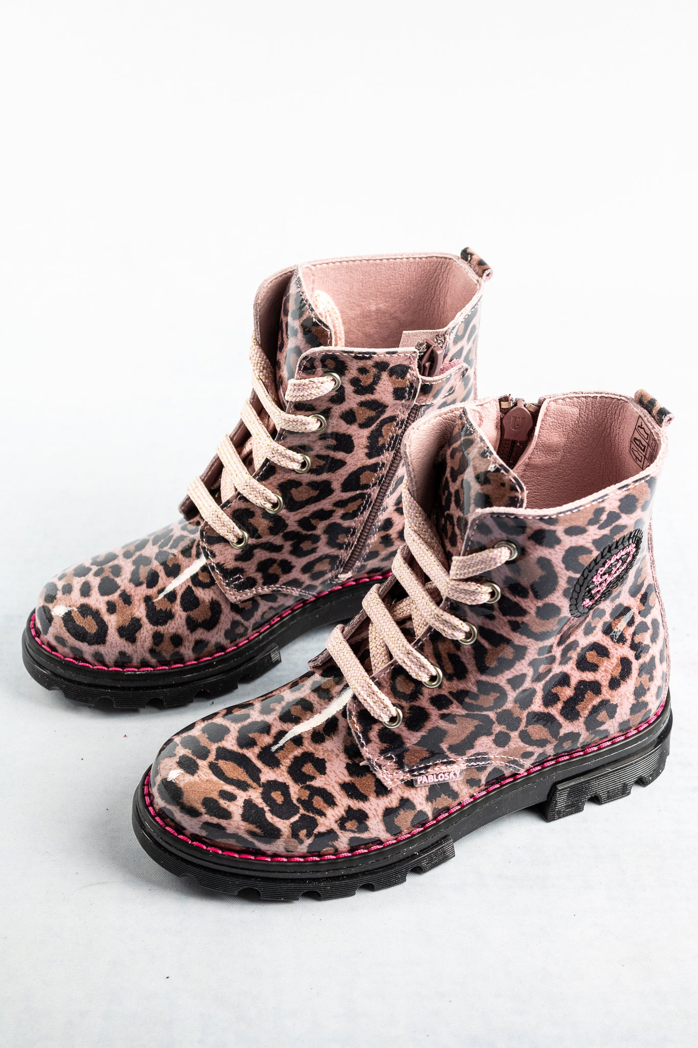 489771 Pablosky Pink Animal Print Boots for sale online ireland
