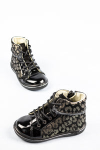 Ricosta 2624700 | Leather Girls Zip & Lace Boots