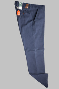 Club Of Comfort 7223 | Micro Check Structured Cotton Trousers