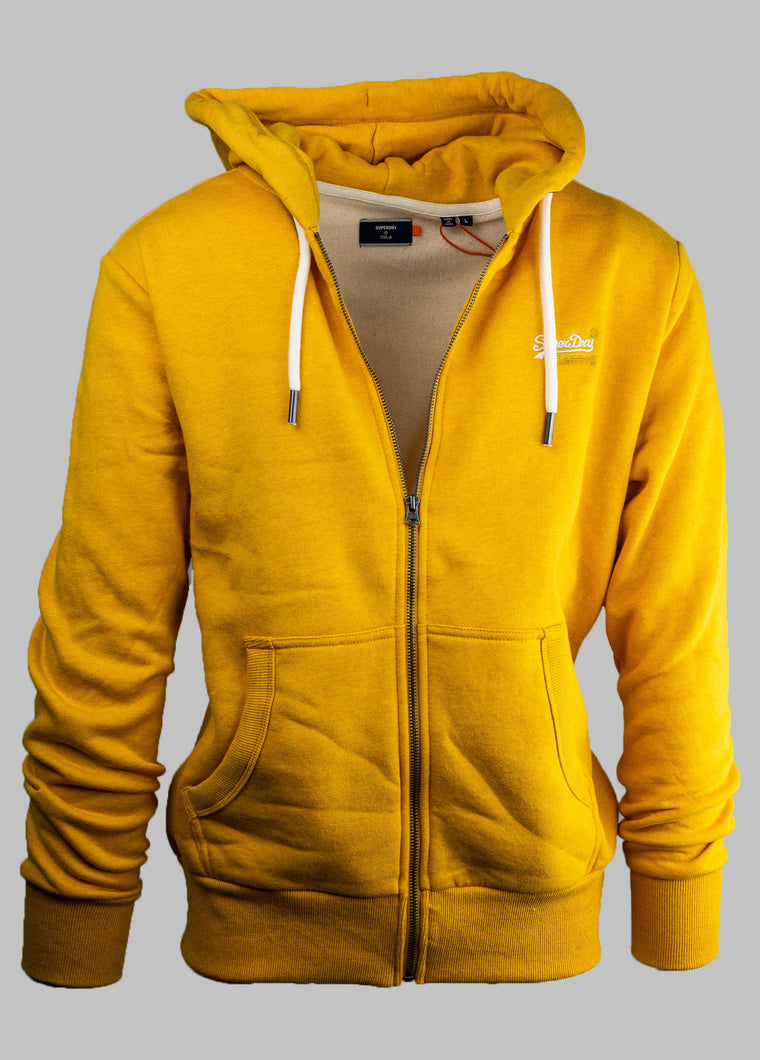 Superdry Zip Hoody M2010227A for sale online ireland yellow