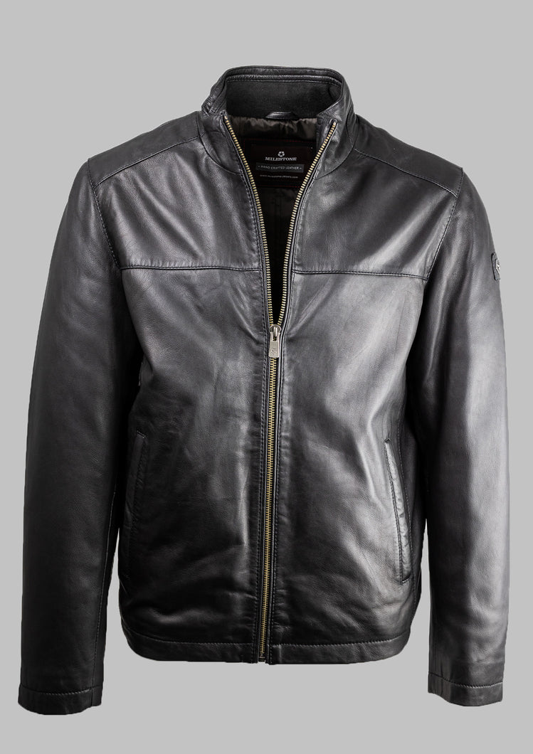Ron Milestone Black Leather Jacket for sale online ireland
