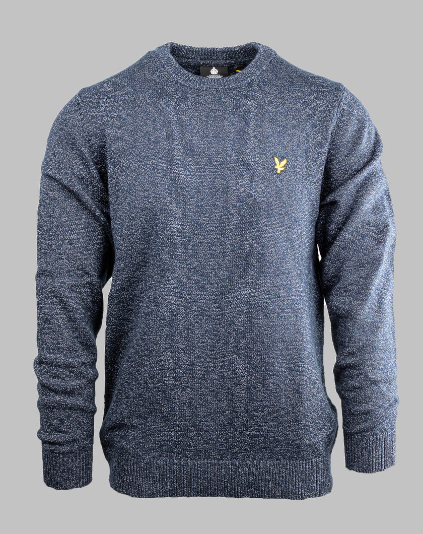 Lyle&Scott KN1000V | Mottled Cotton Crew Knit