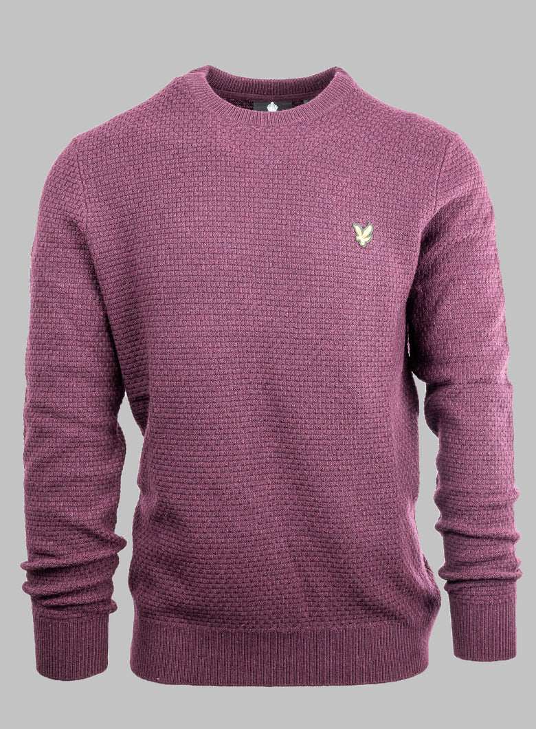 Lyle&Scott KN1359V | Basketweave Knitted Knit