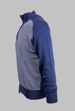 Load image into Gallery viewer, 6th Sense KT Ivan | 1/2 Zip Knit with Navy Contrast