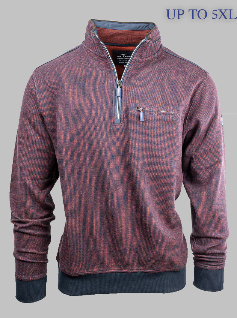 Baileys 203109 | 1/2 Zip Knit with Tipped Detail