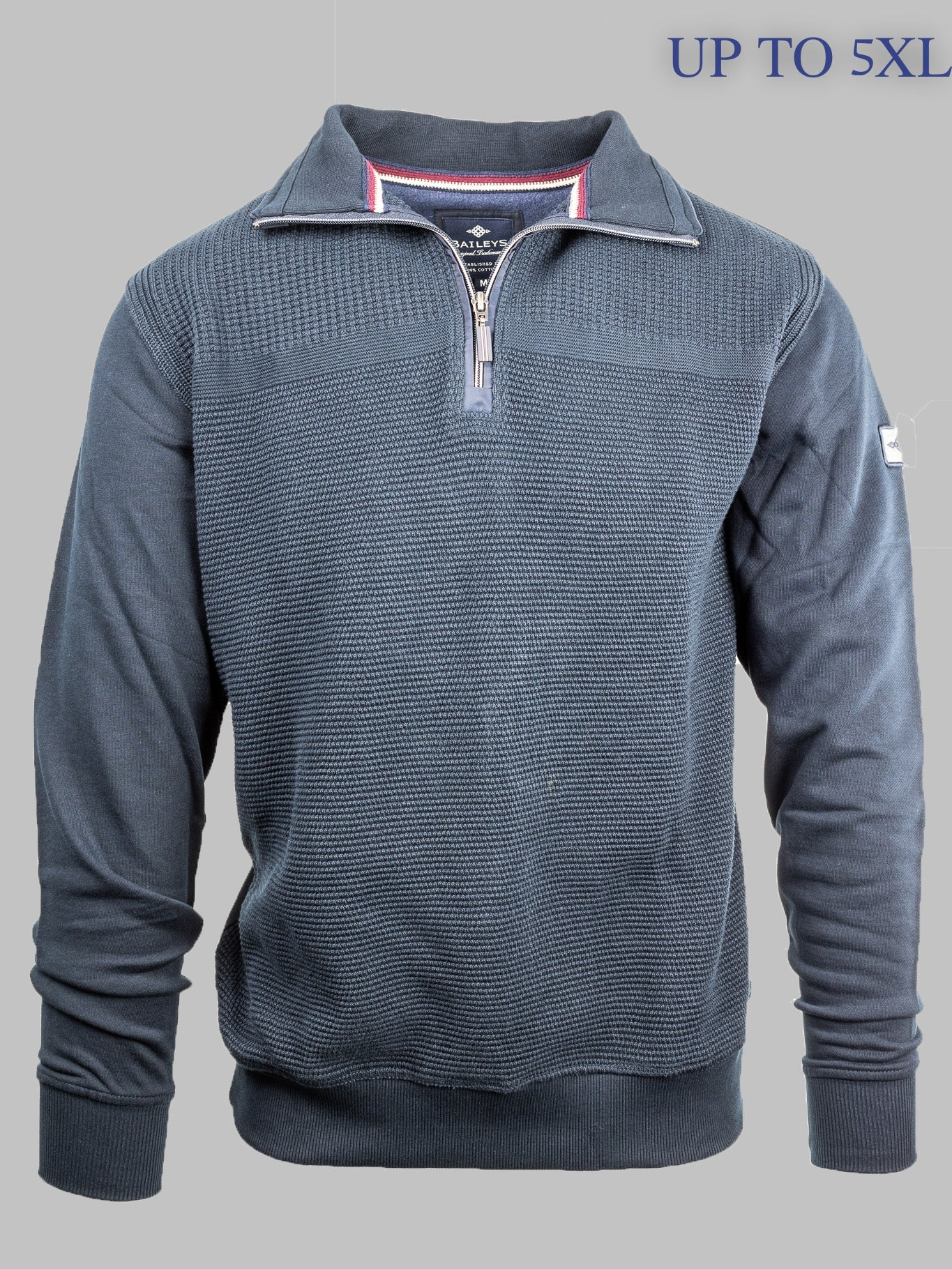 Baileys Navy 1/2 Zip Knit 203198 for sale online ireland