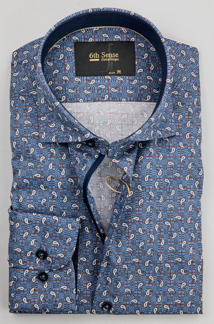 6th Sense Cac Print | Regular Fit Printed Shirt