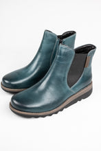 Load image into Gallery viewer, Josef Seibel Lina 05 | Zip Ankle Boot in Petrol Blue