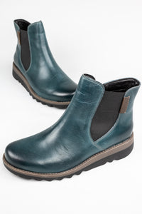 Josef Seibel Lina 05 | Zip Ankle Boot in Petrol Blue