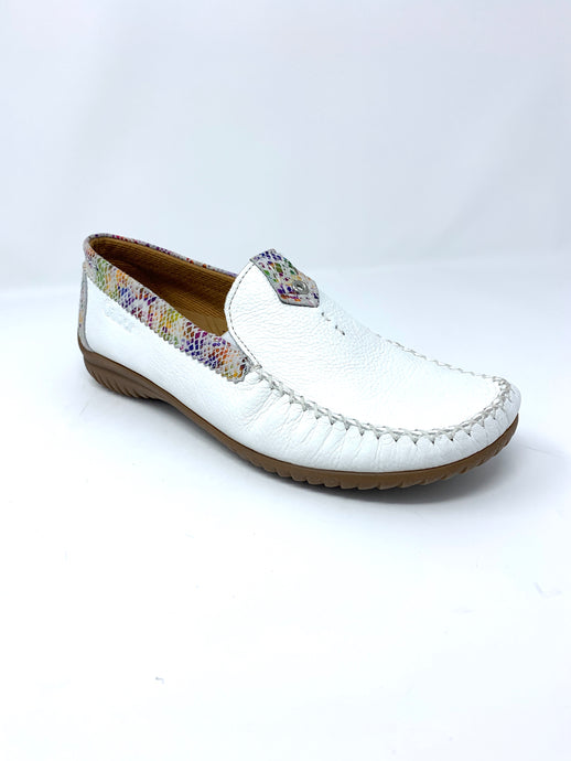 46.090.53 Gabor Leather Moccasin Ladies Shoes white for sale online ireland