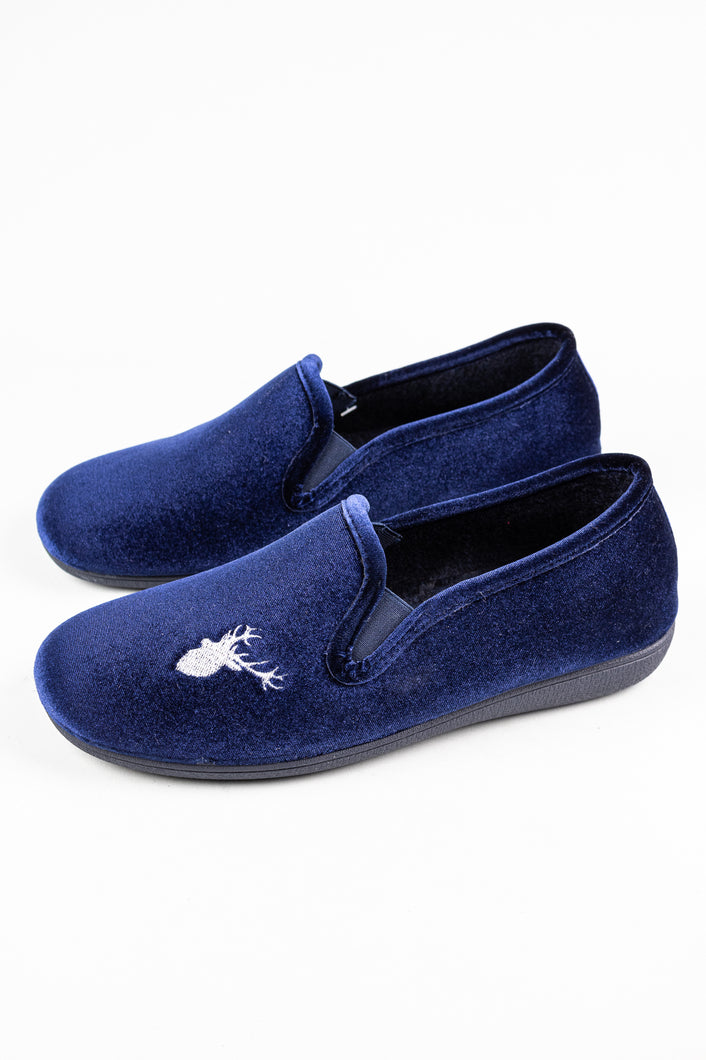 Lotus Clarence | Velour Men's Slippers