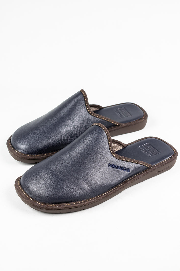Nordikas 131 | Men's Leather Mule Slippers