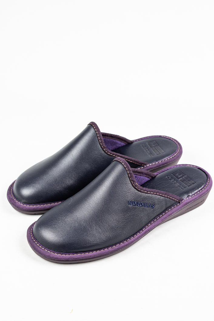 Nordikas Dublin Mule Marine Ladies Leather Slipper for sale online ireland