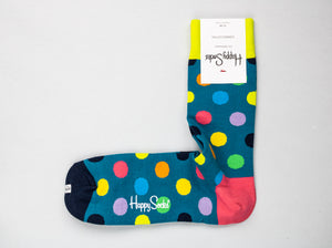 Happy Socks | Single Pack Aqua Blue Dots