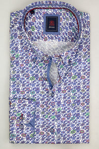 Andre Karol | Blue Floral Printed Men's Shirt