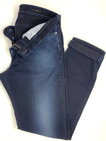 <i>ALBERTO </i><br>DARK BLUE SLIM FIT JEANS