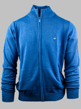 Load image into Gallery viewer, Fynch-Hatton 1221 212 Superfine Cotton Cardigan in Azure Blue for sale online Ireland