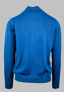 Fynch-Hatton 1221 212 Superfine Cotton Cardigan in Azure Blue for sale online Ireland