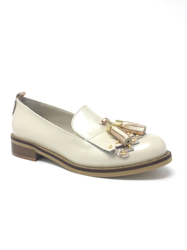 H451PCRA Marco Moreo Alice Pastel Tint Gold Ladies Moccasin Shoe for sale online ireland