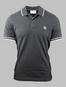 Calvin Klein Tipped Polo Shirt in Black J30J315603 BAE for sale online Ireland
