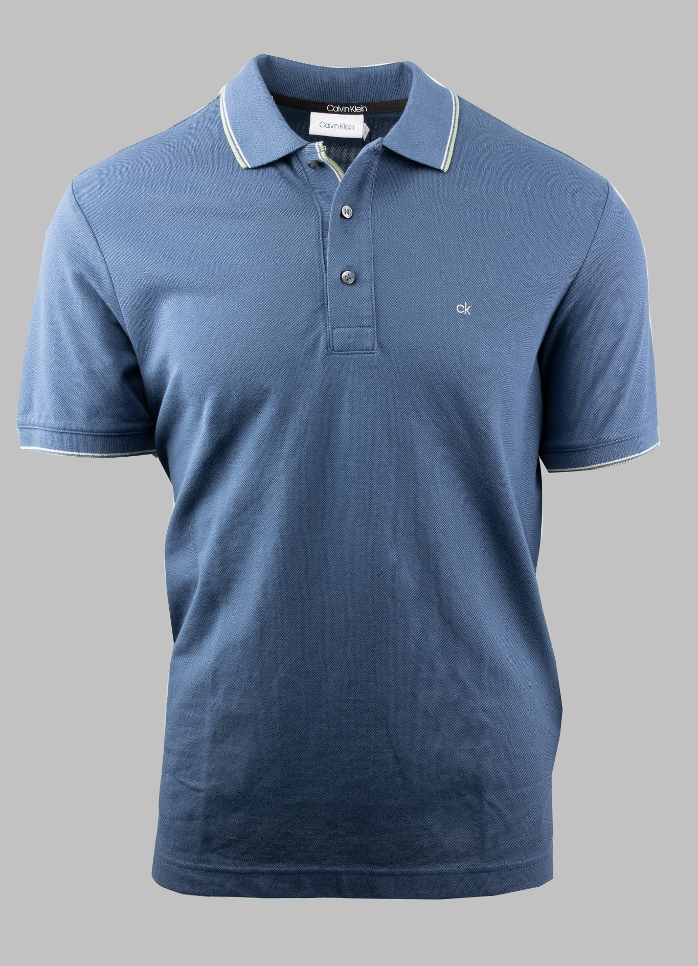 Calvin Klein Dark Denim Blue Stretch Polo Shirt K10K105939 CEC for sale online Ireland