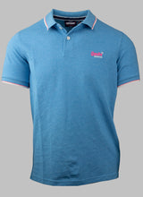 Load image into Gallery viewer, Superdry M1110013A U5U | Tipped Polo Shirt in Electric Blue