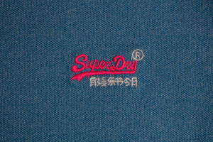 Superdry M1110013A U5U | Tipped Polo Shirt in Electric Blue