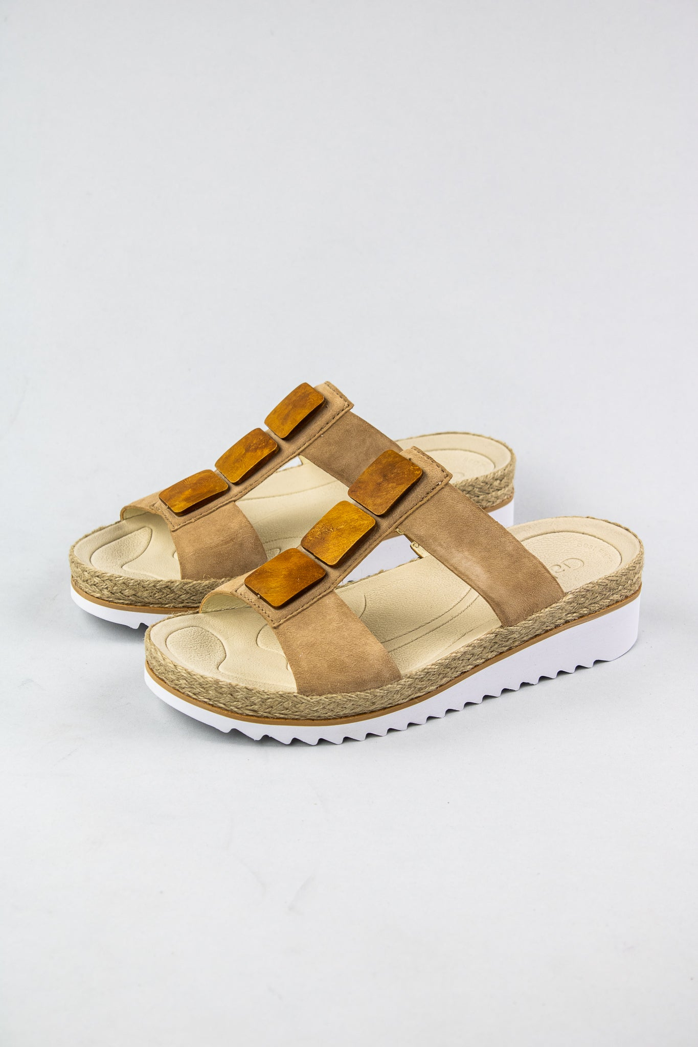 Gabor Caramel Low Wedge Sandals 63.720.14 for sale online Ireland