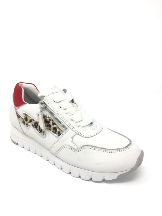 23700-24 197 Caprice White Trainers with Leopard Print for sale online ireland