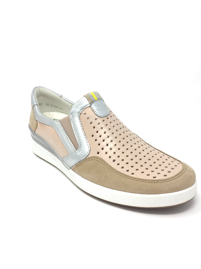 1233362 Ara Ladies Flat Walking Shoe with punched detail for sale online Ireland nude