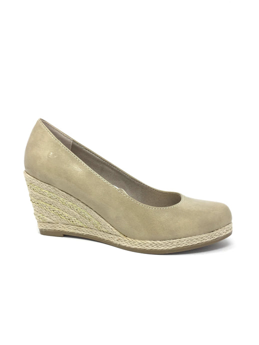 Wedge Heel with Jute Covered Platform