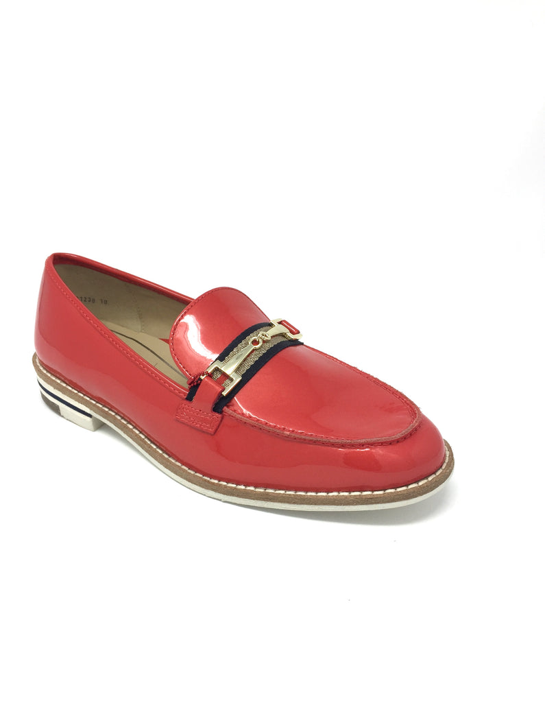 1231238 10 Ara Red Kent Flat Block Heel Ladies Loafers for sale online Ireland