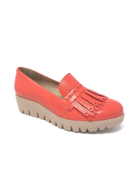 C-33207_2024 Wonders Ladies Leather Moccasin Loafer for sale online ireland coral orange