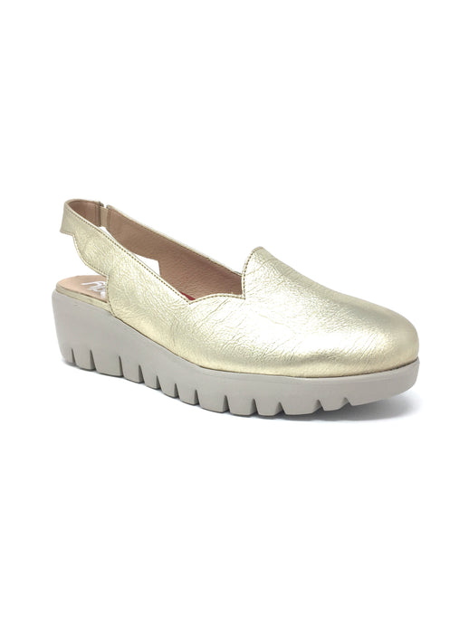 C-33204_4521_7285 Wonders Ladies Metallic Platform Wedge Slingbacks with Closed Toe for sale Ireland