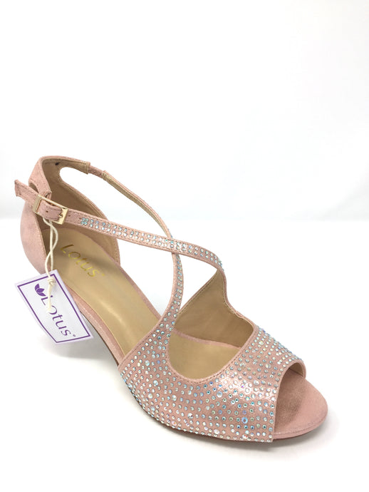 Pink&Diamante Rosa Open-Toe Shoes