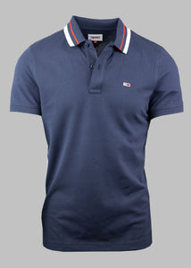 Tommy Jeans Tipped Polo Shirt in Navy DM0DM09440 C87 for sale online Ireland