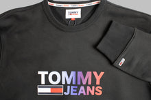 Load image into Gallery viewer, Tommy Jeans Ombre Logo Sweatshirt in Black DM0DM10202 BDS for sale online Ireland