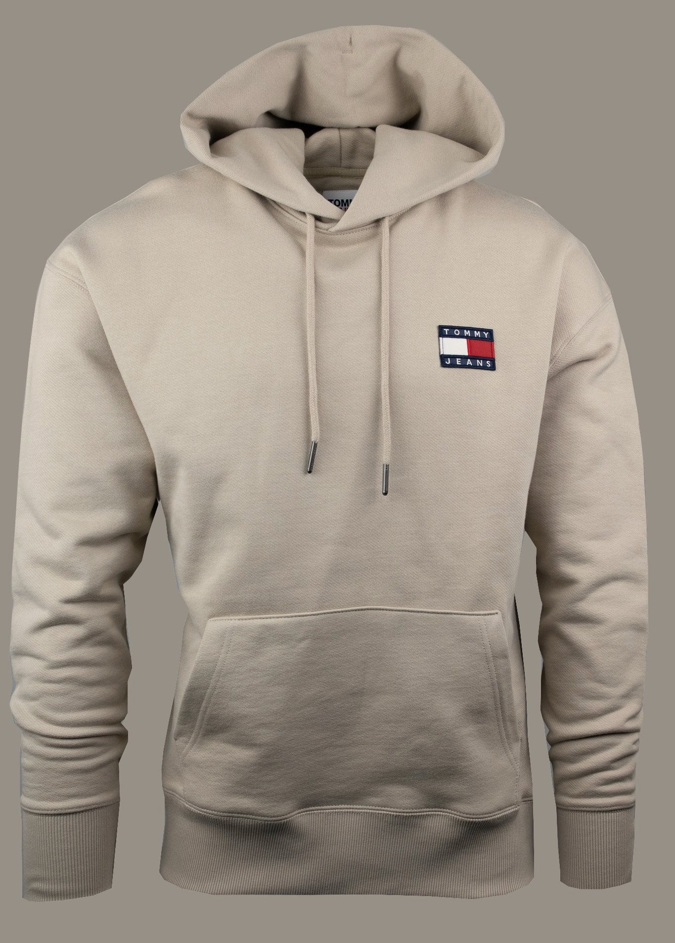 Tommy Jeans DM0DM10202 BDS | Soft Fleece Lined Hoodie in Soft Beige