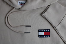 Load image into Gallery viewer, Tommy Jeans Badge Hoodie in Soft Beige DM0DM06593 ABM for sale online Ireland