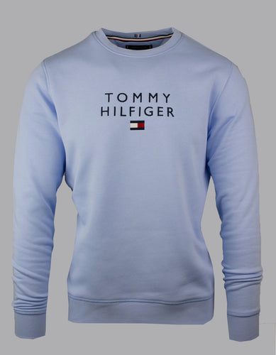 Tommy Hilfiger Stacked Flag Crew in Sweet Blue MW0MW18299 C3Q for sale online Ireland