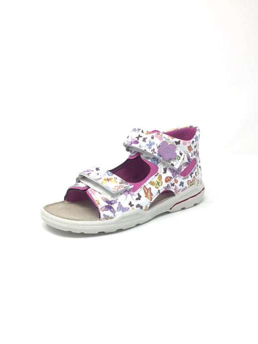 Ricosta Girls Floral White Sandals