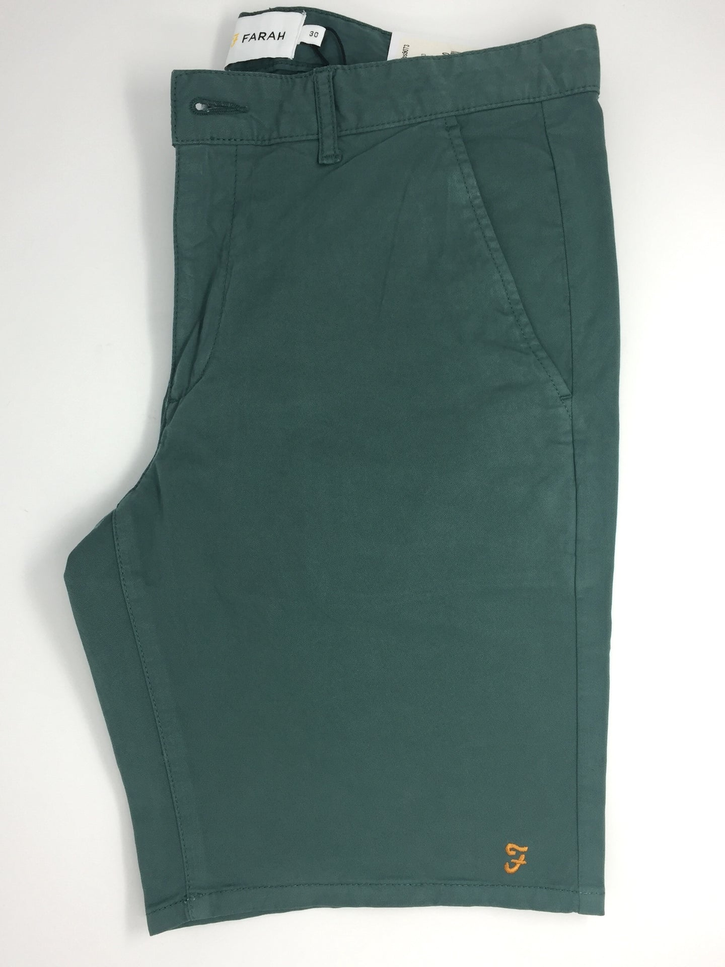 f4hs9073 Farah mens Shorts regular fit Green Biscuit (353) stocked online ireland