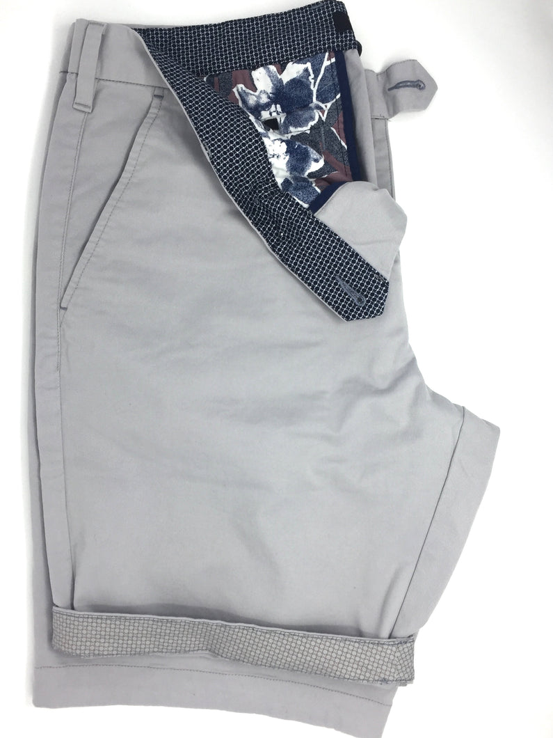 151377 Ted Baker Men's Chino Shorts Grey stocked online ireland