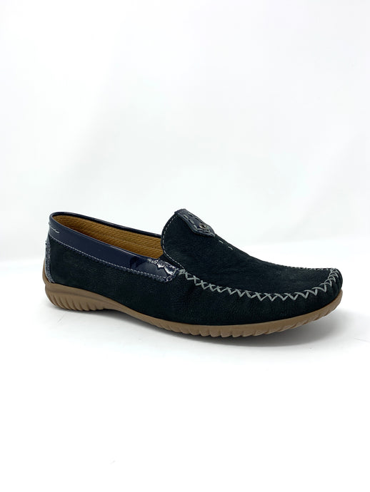 46.090.26 Gabor Leather Moccasin Ladies Shoes night blue for sale online ireland