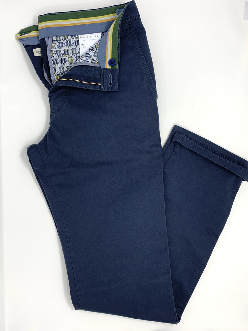 4640 56563/390 Bugatti Regular Fit Mens Chinos dark blue for sale online ireland
