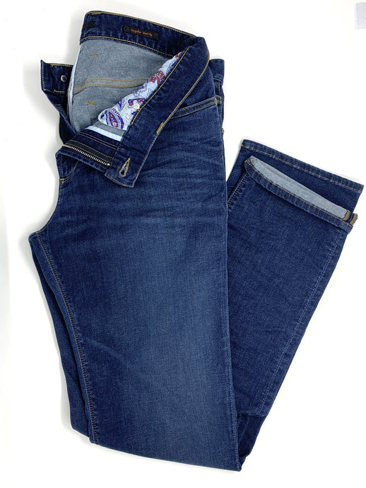 BLUE REGULAR SLIM FIT JEANS