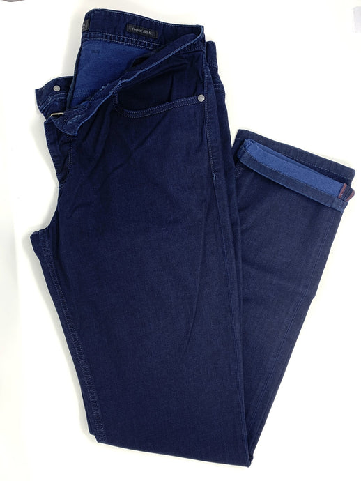 DARK BLUE REGULAR SLIM FIT JEANS
