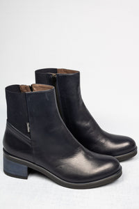 L130NARO Nora Marco Moreo Ladies Leather Ankle Boots for sale online ireland navy
