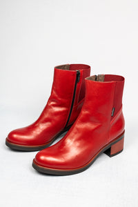 L130NARO Nora Marco Moreo Ladies Leather Ankle Boots for sale online ireland red